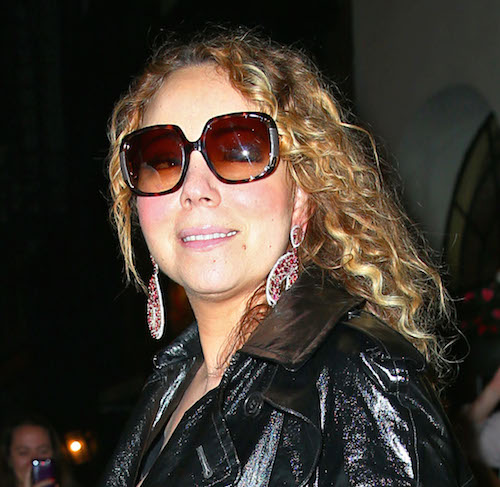 Mariah Carey heads out of her apartment in NYC