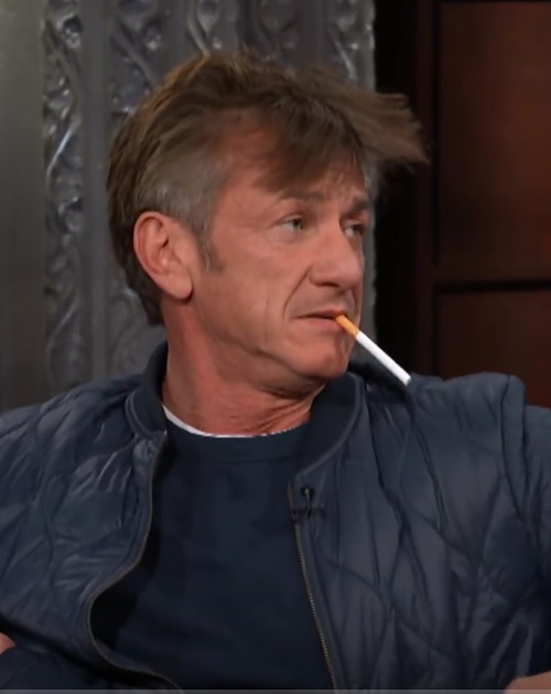 "Sean Penn Smoked On ""The Late Show,"" And Talked About Robin Wright's Parenting On ""WTF"""