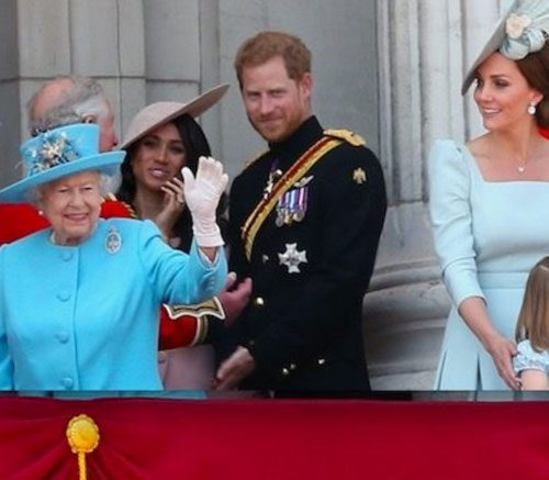 Duchess Meghan Made Her Buckingham Palace Balcony Debut For The Queen's Birthday Celebrations