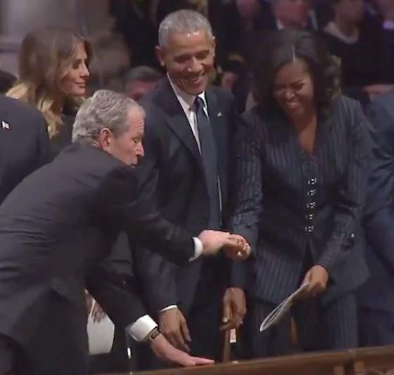 Open Post: Hosted By George W. Bush Slipping Michelle Obama Some More Candy