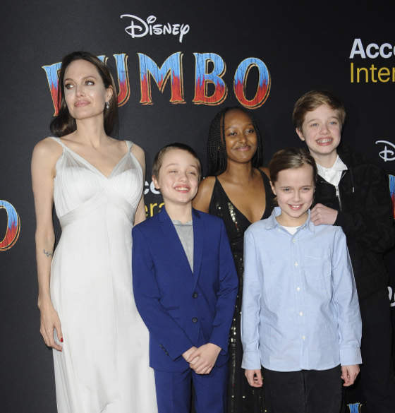 "Angelina Jolie Brought The Kids To The ""Dumbo"" Premiere"