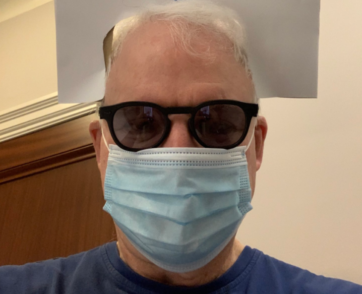 Open Post: Hosted By Steve Martin Letting The People Know That It's Steve Martin Under That Mask